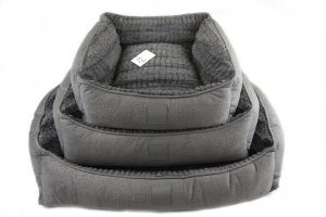 Isleep Grey Plush Pet BEd