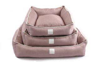 Isleep Pink Linen pet bed
